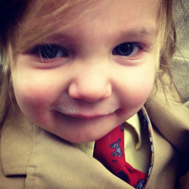 little boy suit and tie long hair milk mustache instagram