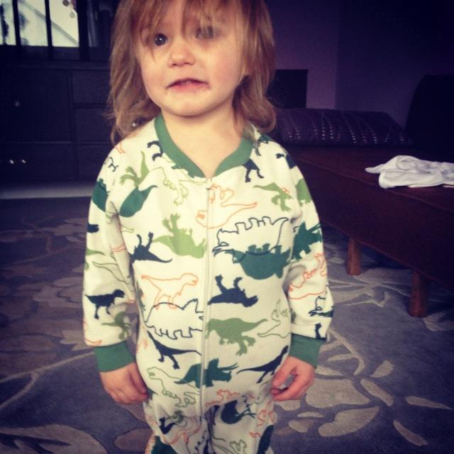 little boy stuffed pajamas instagram