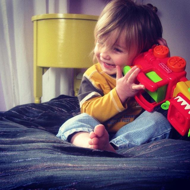 little boy snowshoeing instagram