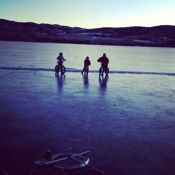 kids riding bikes on ice instagram