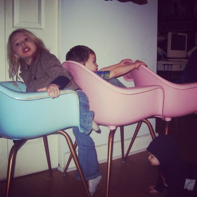 kids making train car truck with chairs instagram