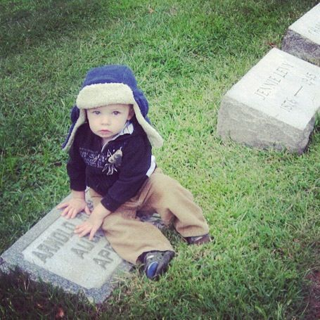 little boy cemetery tombstone instagram