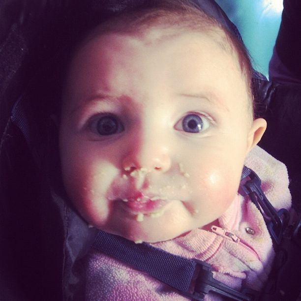 baby girl eating solids instagram