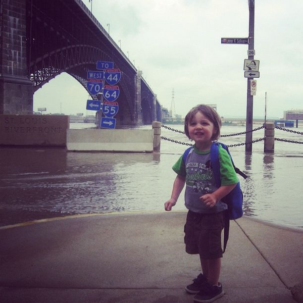 little boy st louis waterfront mississippi river instagram