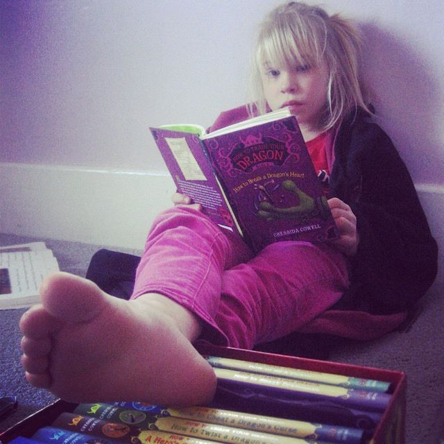 little girl reading book instagram