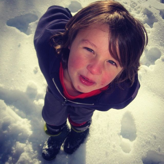 little boy snow instagram