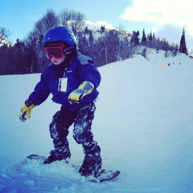 little boy snow boarding instagram
