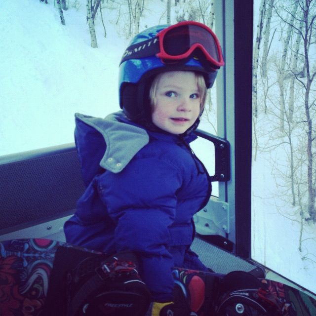 little boy ski lift snow board instagram