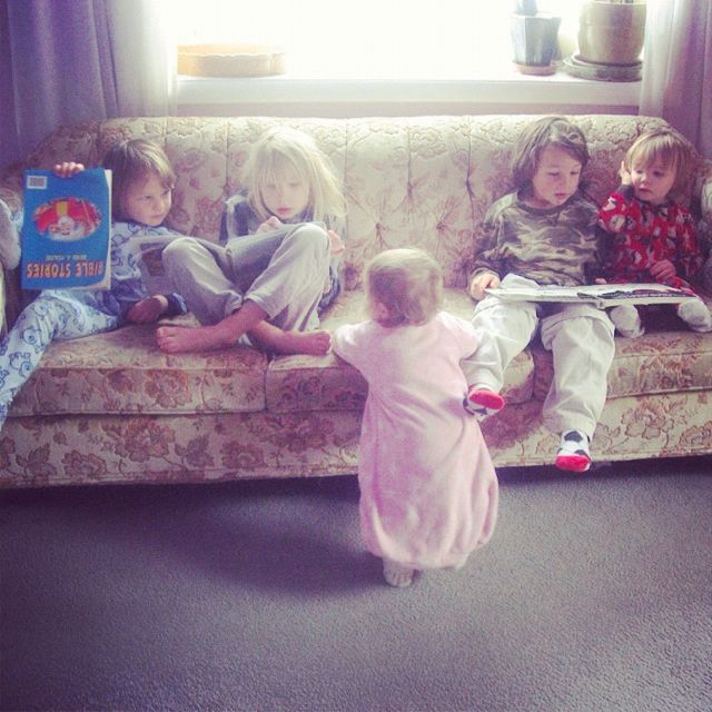 kids on a couch instagram