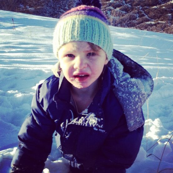 little boy snow on face instagram
