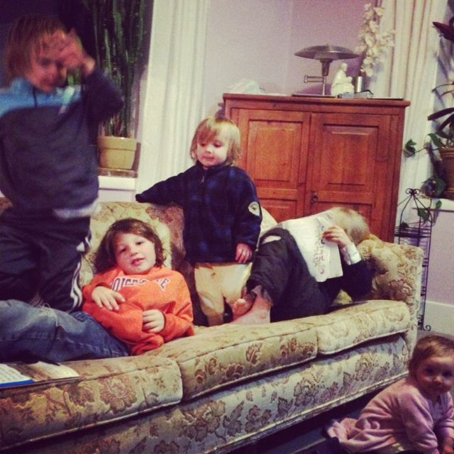 kids on couch instagram