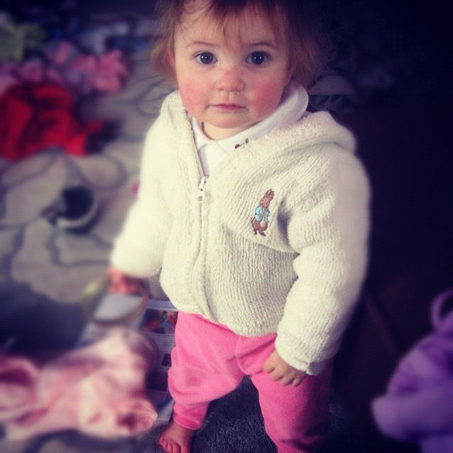 baby girl standing instagram