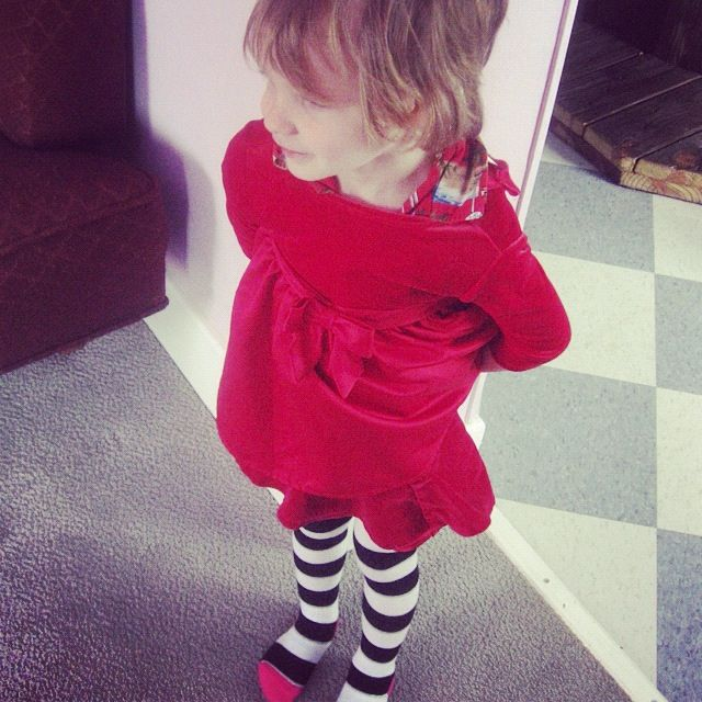 little boy red dress instagram