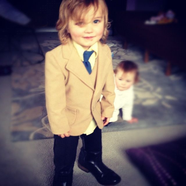 little boy in suit tie moms boots instagram