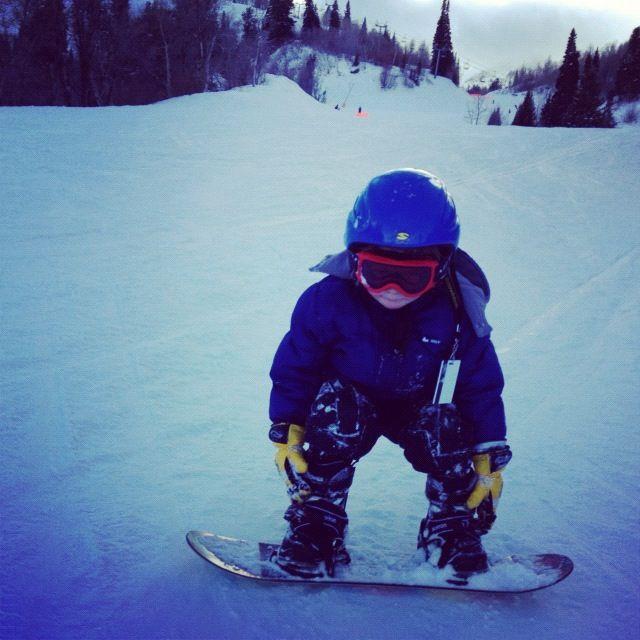 little boy snow boarding instagram