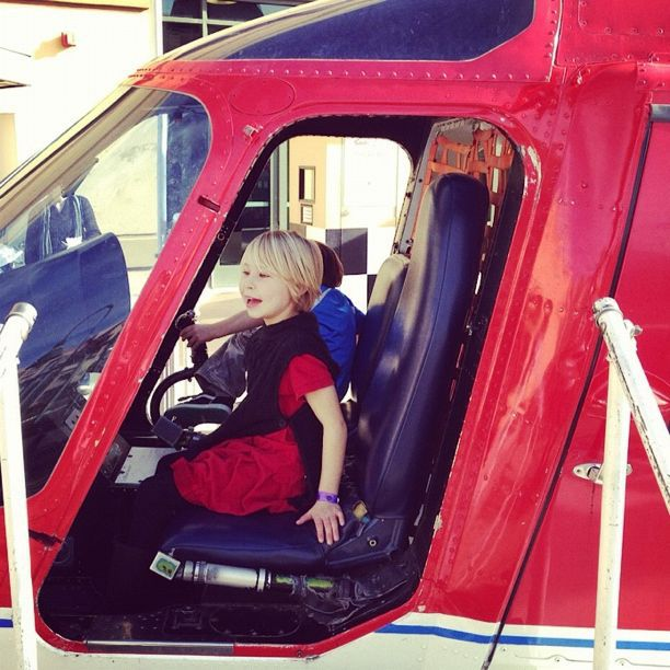 little girl in helicopter instagram