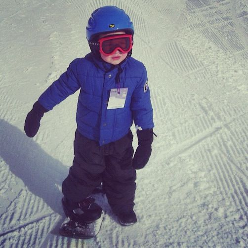 little boy snowboarding instagram