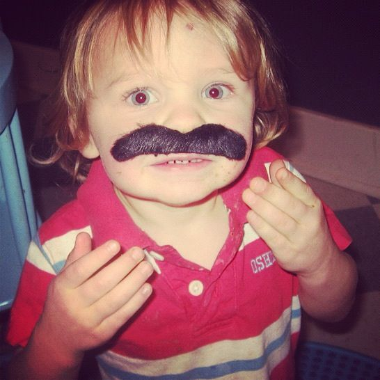 little boy fake mustache instagram