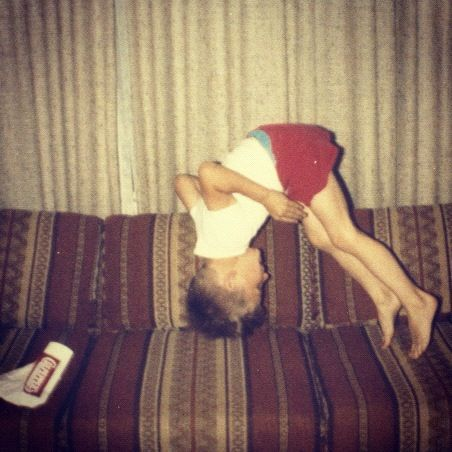 boy front flip on couch eighties instagram