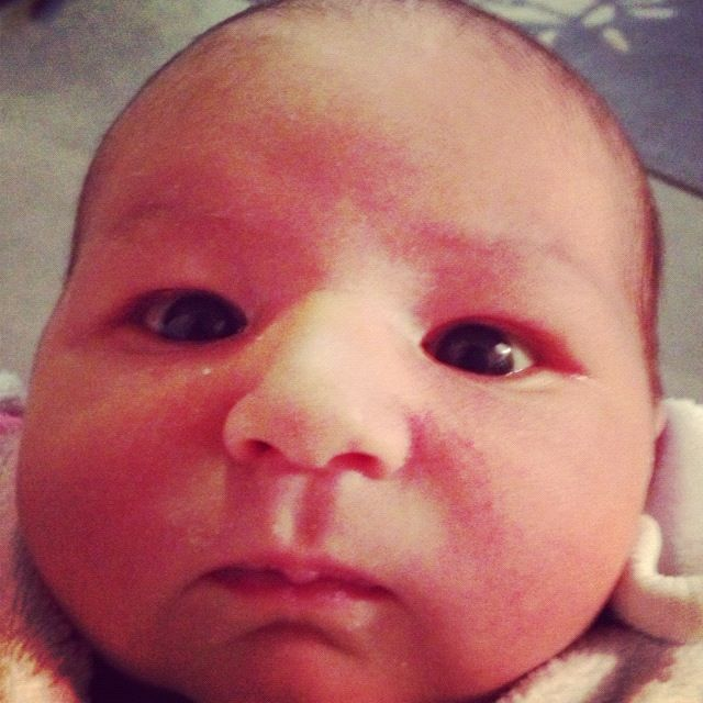 newborn baby close up instagram