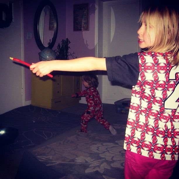 little girl casting spell with wand instagram