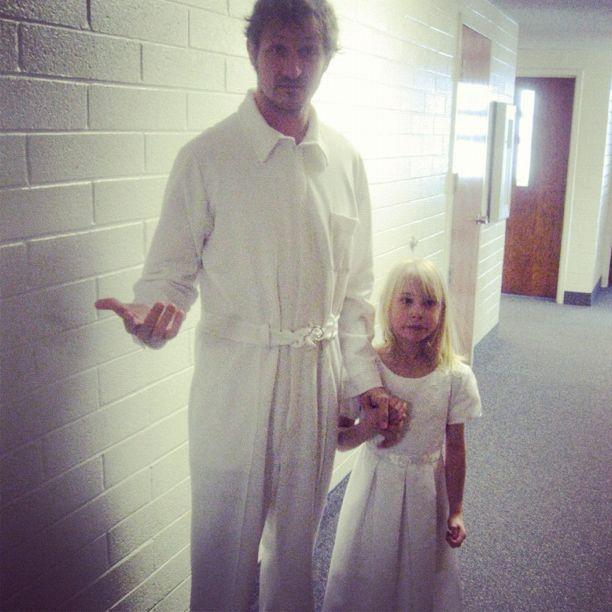 little girl and dad baptism instagram