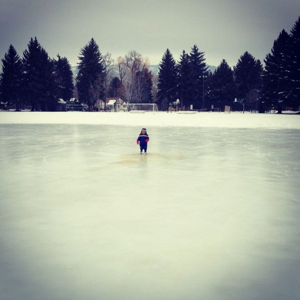 little boy alone on ice rink instagram
