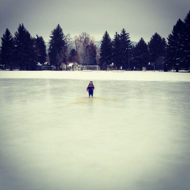 little boy alone on ice rink instagram