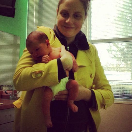 mom and newborn doctors office instagram