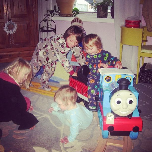 thomas the tank engine living room instagram