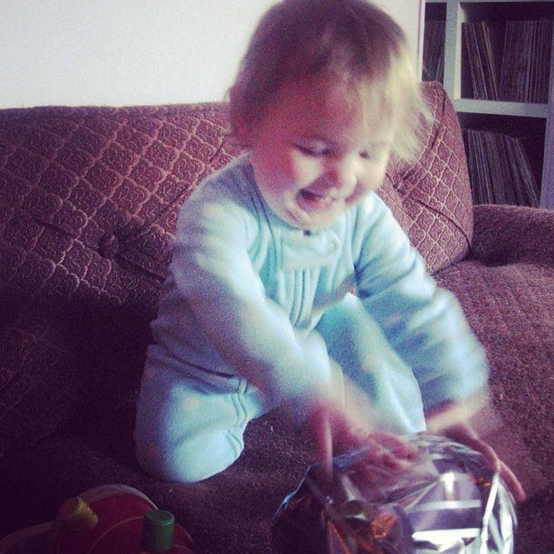 baby girl present instagram