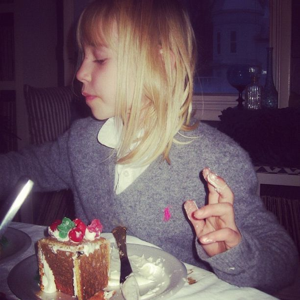 little girl graham cracker gingerbread house instagram