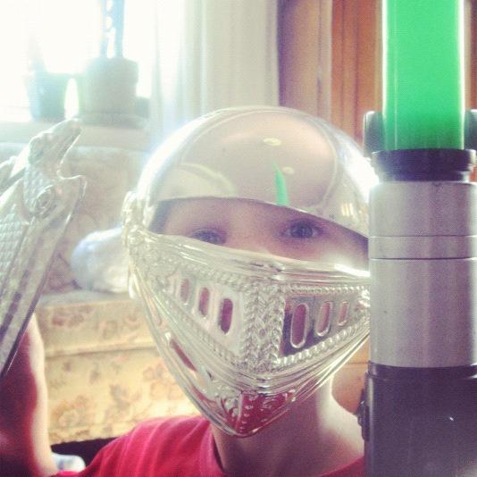 little boy shield light saber helmet instagram
