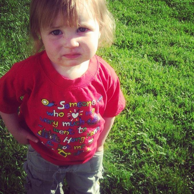 baby girl red t-shirt instagram