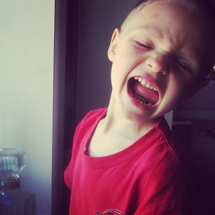 little boy making faces instagram