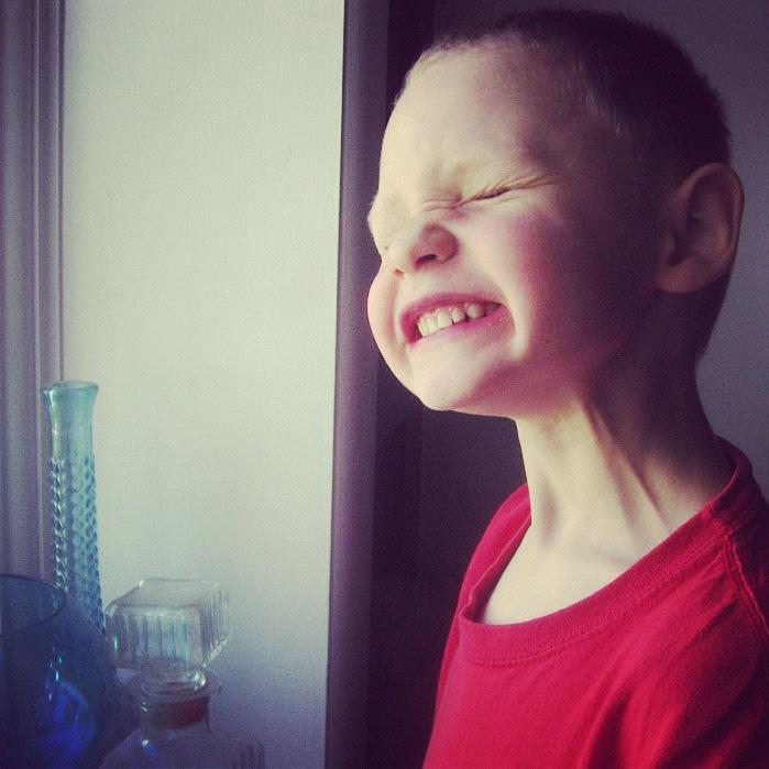 little boy making faces instagram