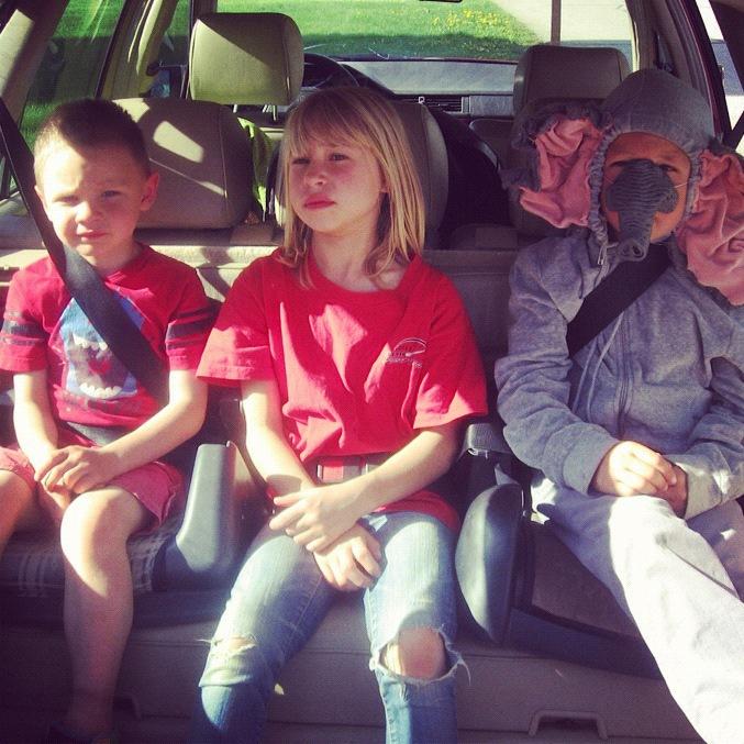 kids in back of station wagon instagram