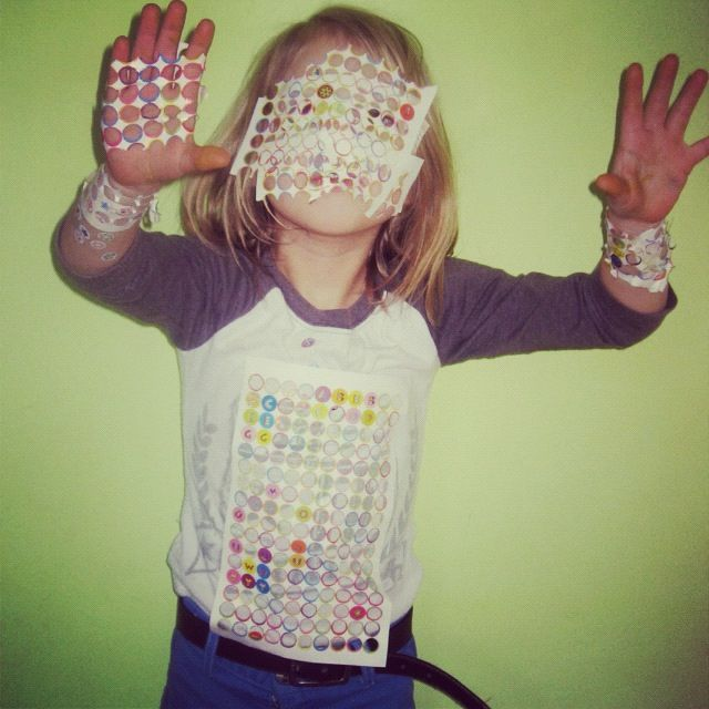 little girl stickers instagram