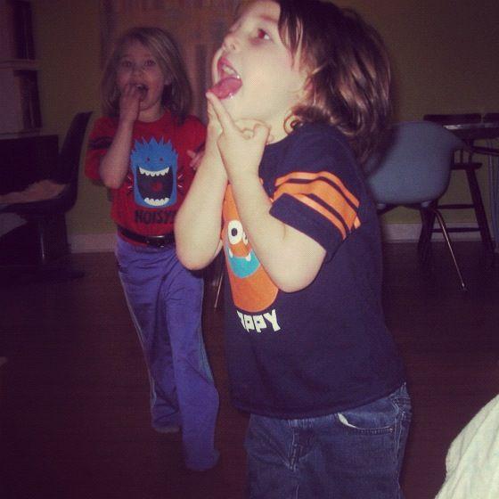 little boy and girl running instagram