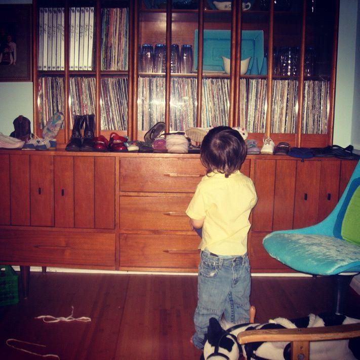 little boy lines up shoes instagram