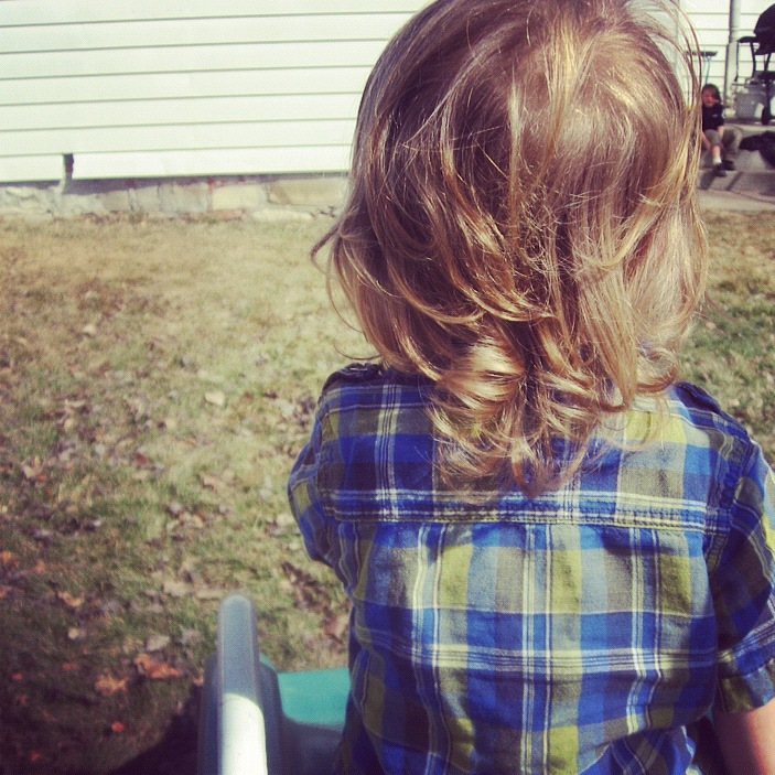 little boy long curly hair instagram