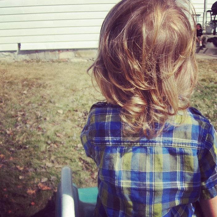 little boy long curly hair instagram