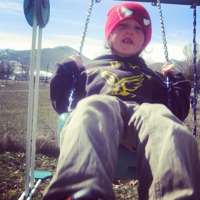 little boy swinging instagram
