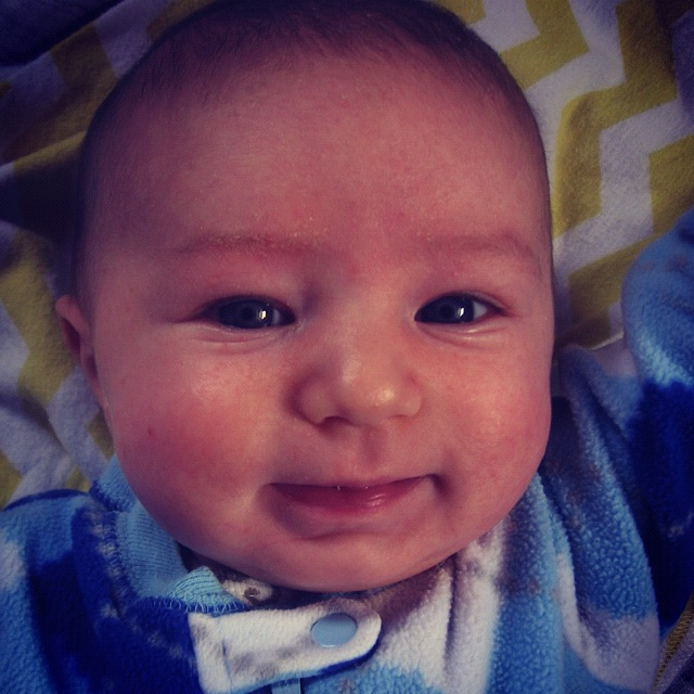 infant boy smiling instagram