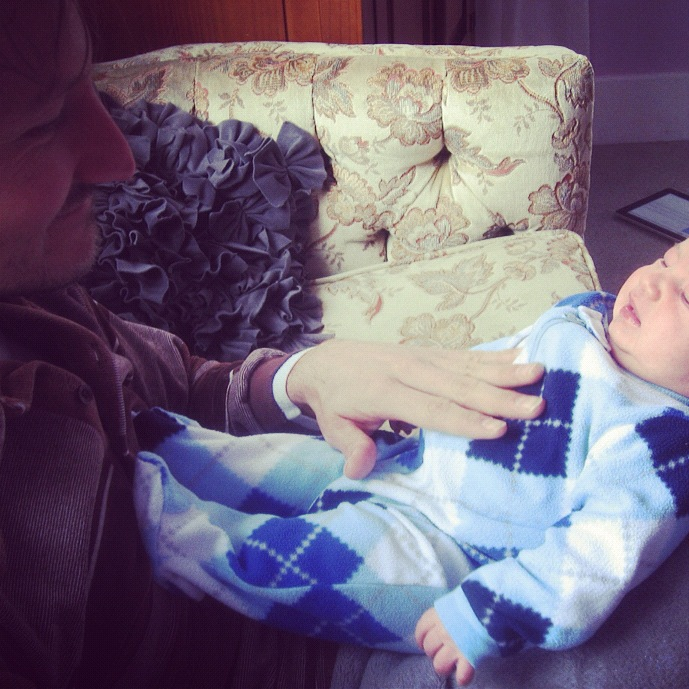 baby boy crying dad instagram