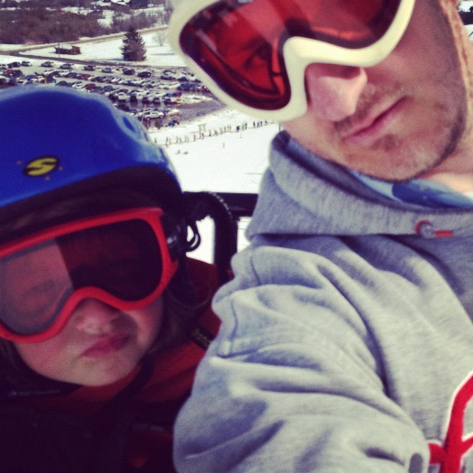 little boy dad ski lift instagram