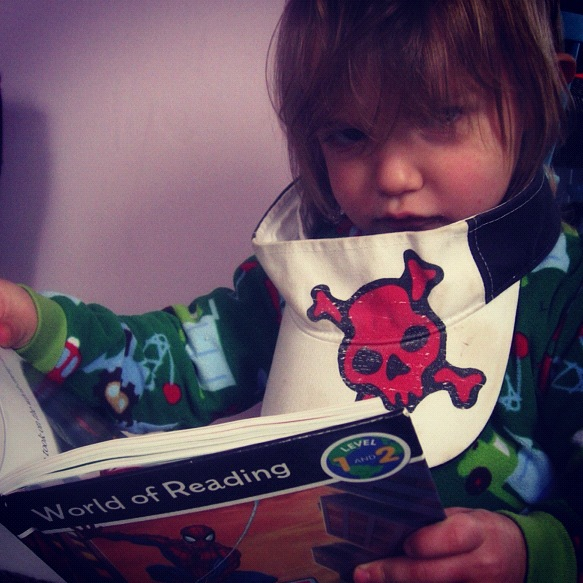 little boy reading book instagram
