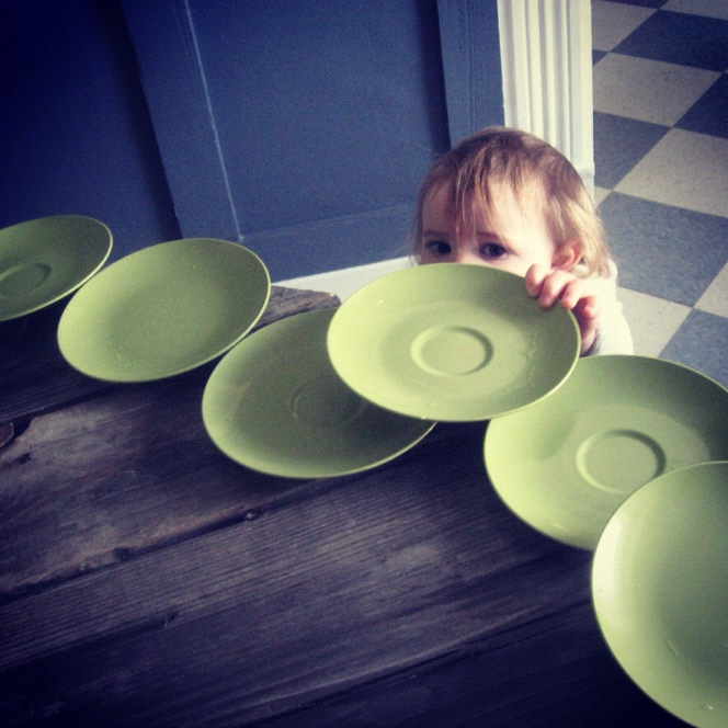 little girl setting table instagram