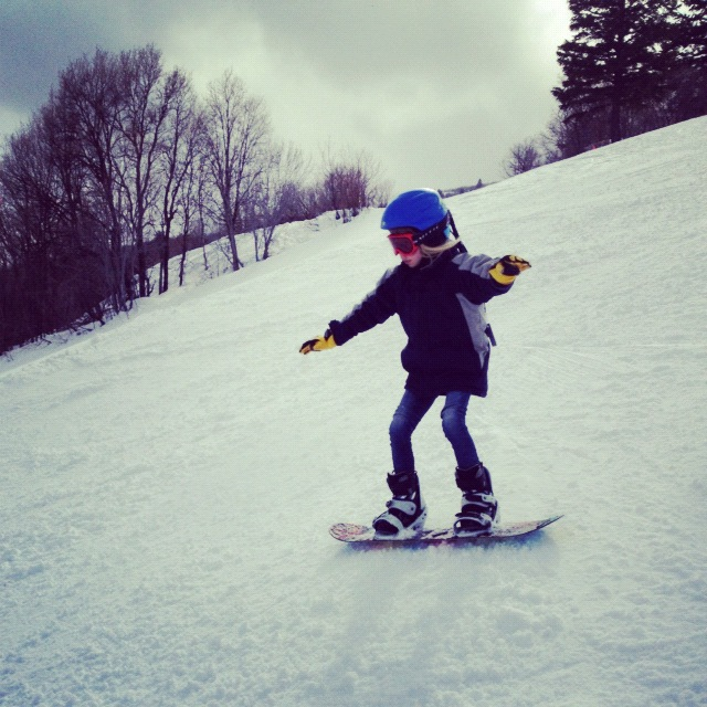 little girl snowboarding instagram