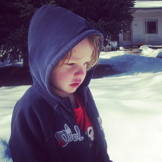 little boy in snow instagram